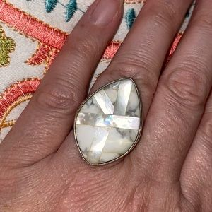 Mosaic Mother of Pearl Ring